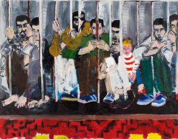 Tan bárbara la seguridad como el delito, 2007, óleo sobre lienzo, 200 x 250 cm