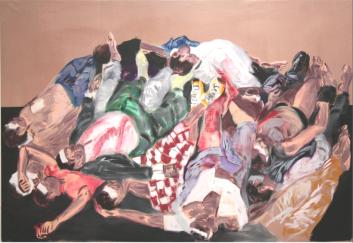 Morgue, 2008/09, óleo sobre lienzo, 200 x 300 cm.