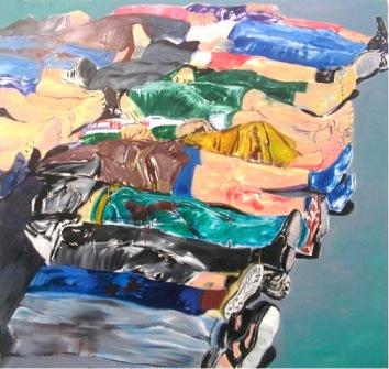Baquba, 2009, óleo sobre lienzo,190 x 200 cm
