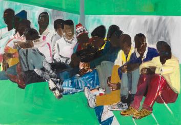 Subsahariano, óleo sobre lienzo, 2006. 200 x 300 cm