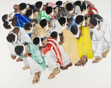 No se puede mirar, óleo sobre lienzo, 2006. 200 x 250 cm